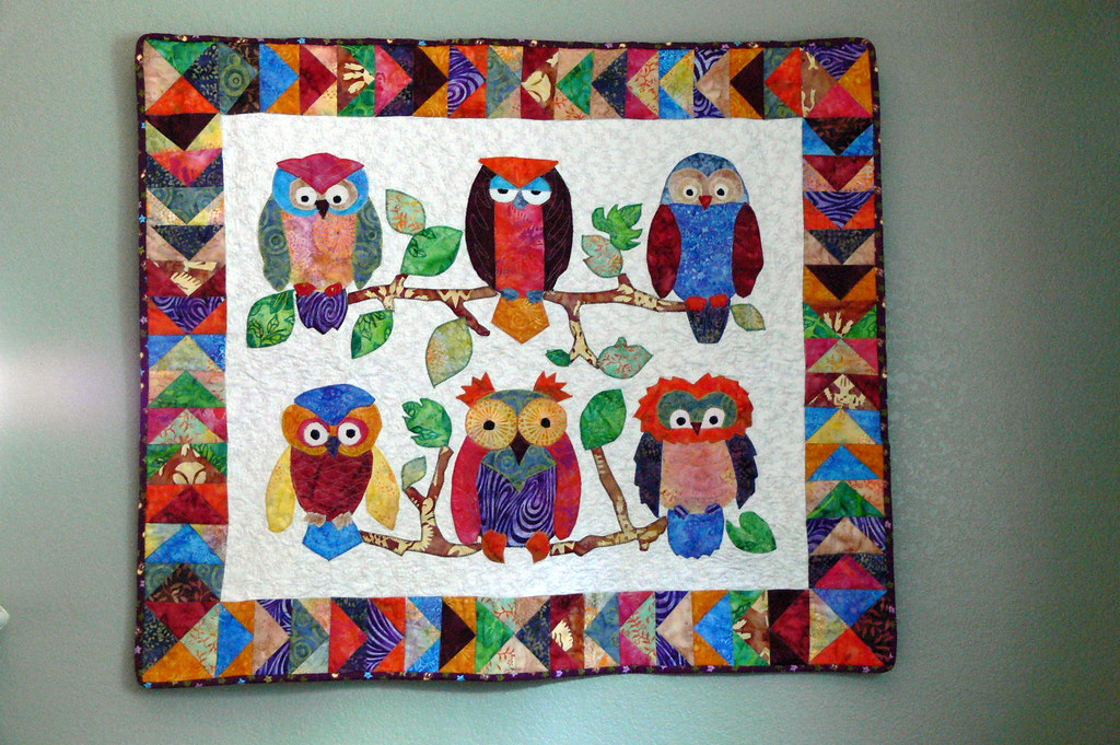 Free Quilt Pattern For Owls : owl quilt Made from the pattern Whooters by Su-Sun Designs? Flickr