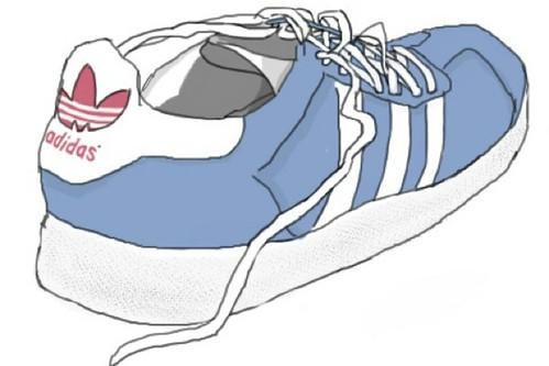 Drawn Adidas Shoes