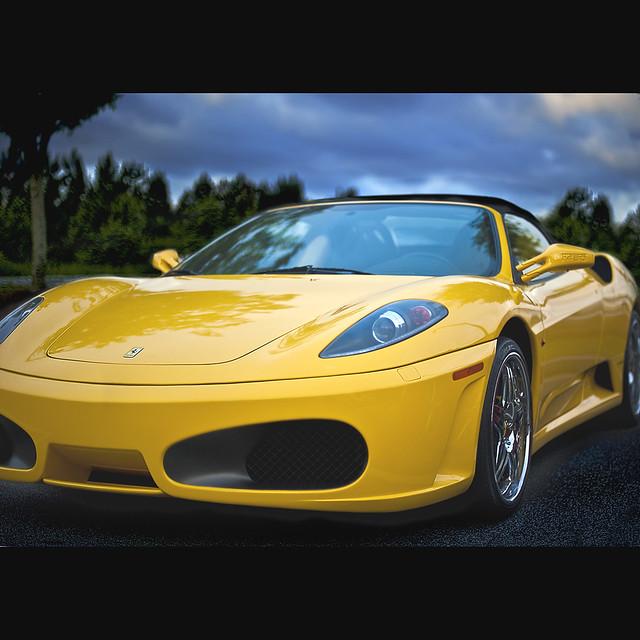 "Cenário 3d Ferrari F430 Modelo 3d: Yellow Means ""Go Faster"" - Ferrari F430 (117 Of 365)"