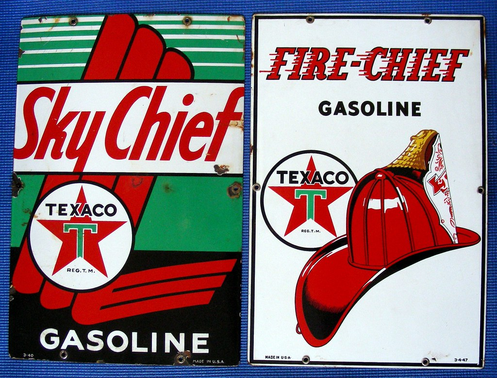 Mobile Auto Garage Signs : Old texaco gas pump signs back when ebay charged