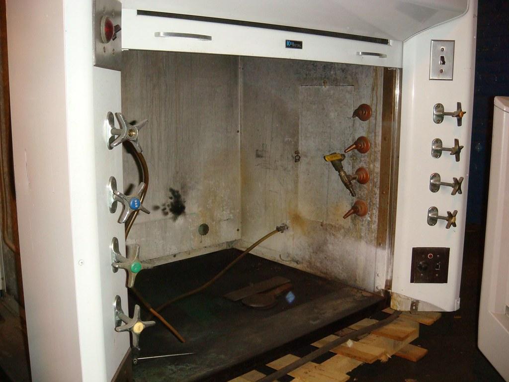 asbestos panel lab hood
