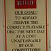 Netflix Shipping Center Goal Sign