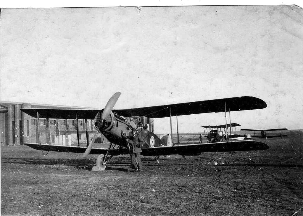 Raf Crail Scotland 1919 Bristol Fighter Pilot And His