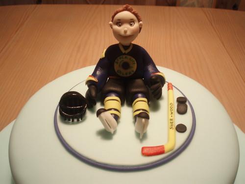 Ice Hockey Player Cake Topper