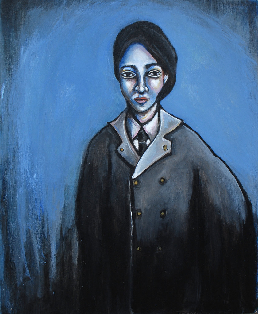 Self Portrait (In the Style of Picasso Blue Period)   Flickr
