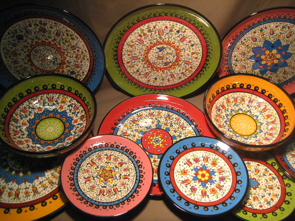 Hand Painted Plate By S Tahazi