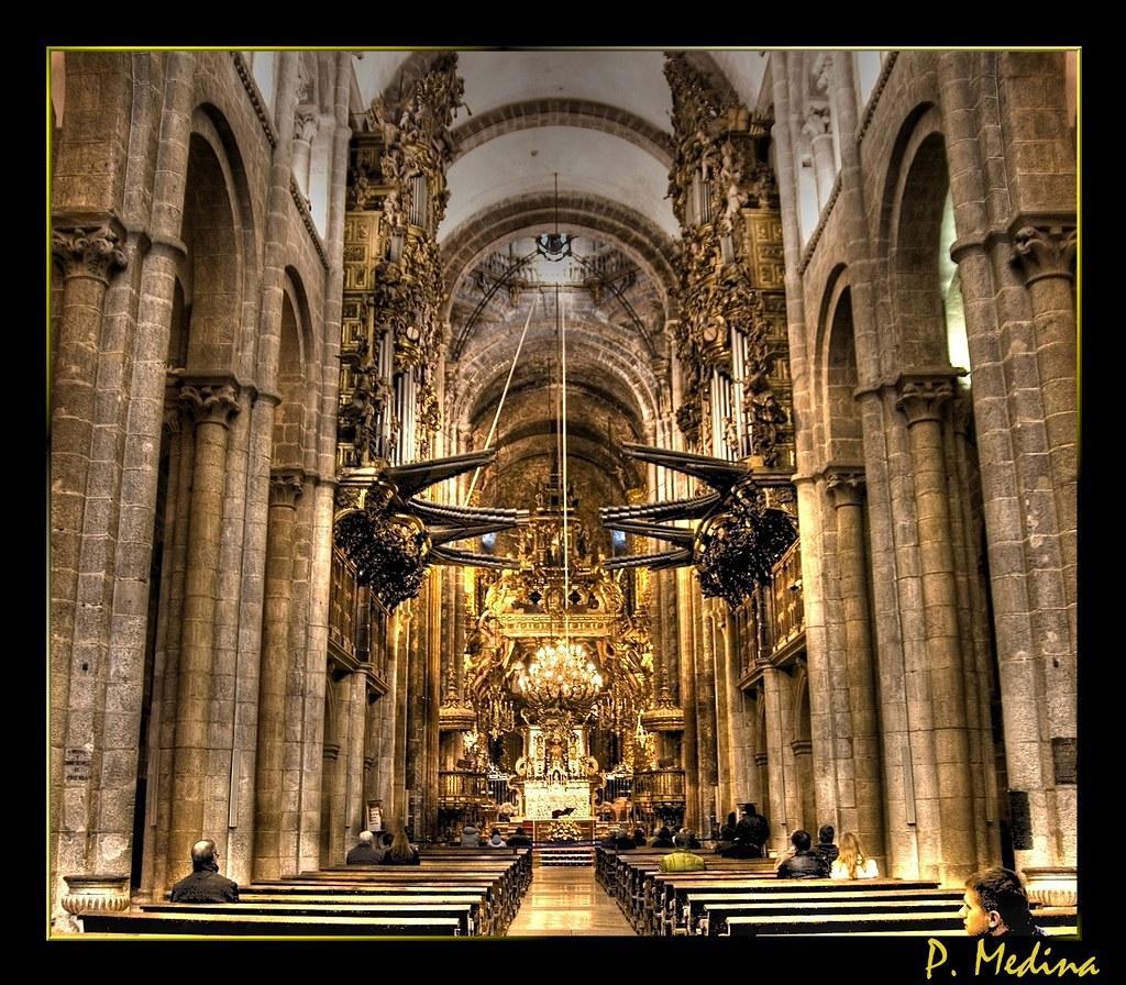 Catedral de santiago vista interior en hdr j s bach - Interior santiago de compostela ...