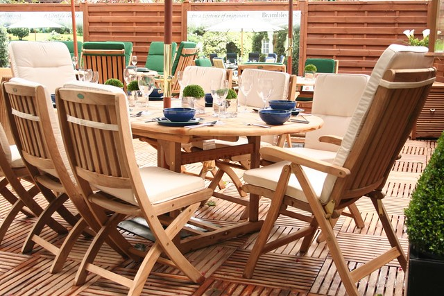 teak garden furniture and wooden decking by crinklecranklecom - Garden Furniture Decking