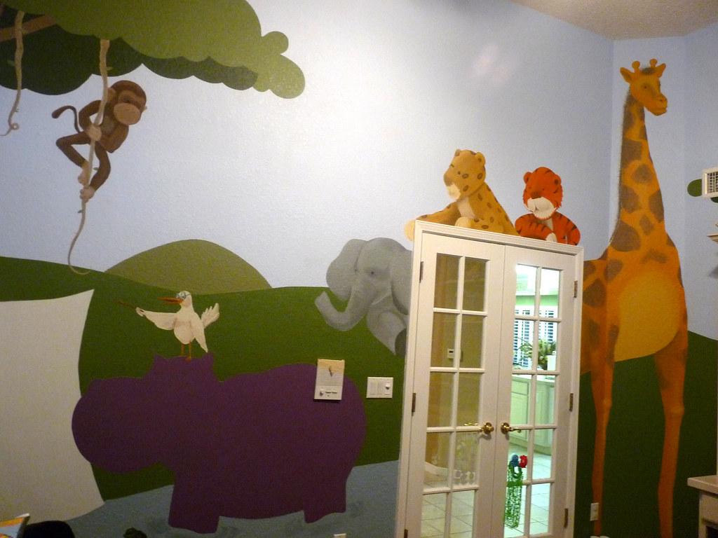 Jungle classroom jungle themed playroom hippo is a for Jungle themed playroom