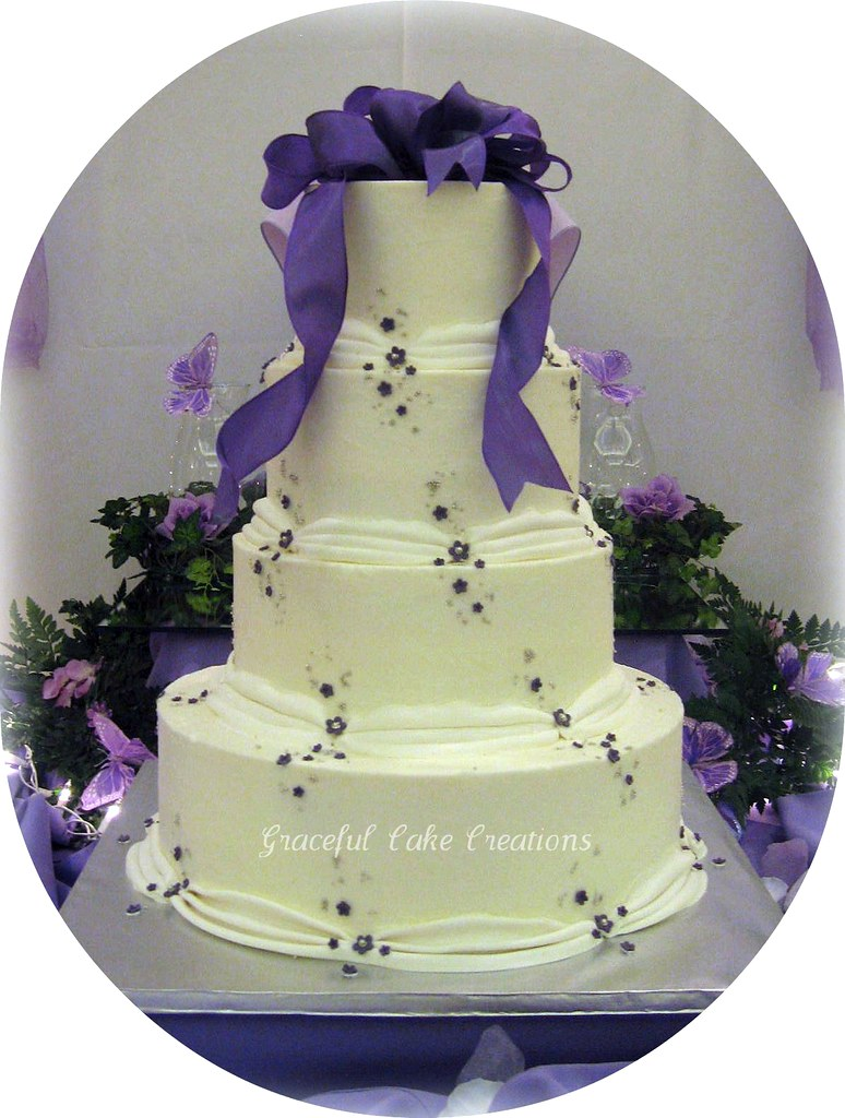 Cake With Purple Frosting