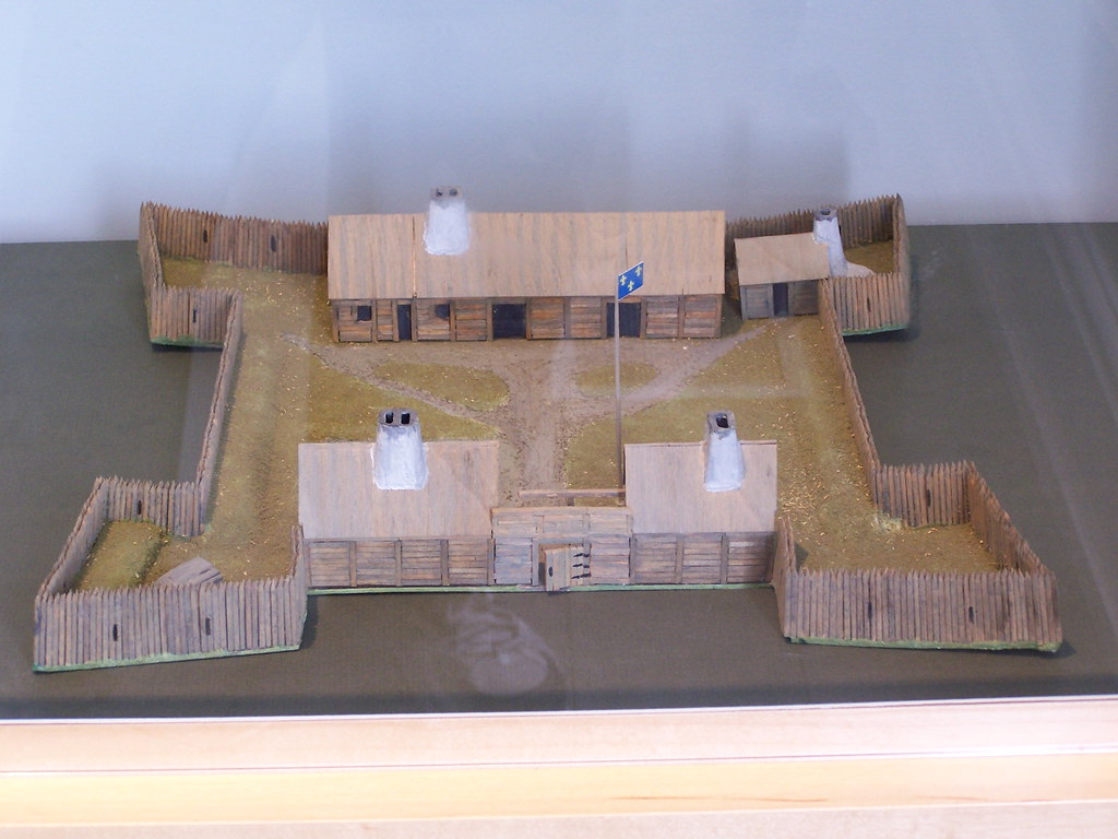 Model Of Fort Rouille Fort Toronto French Trading Post