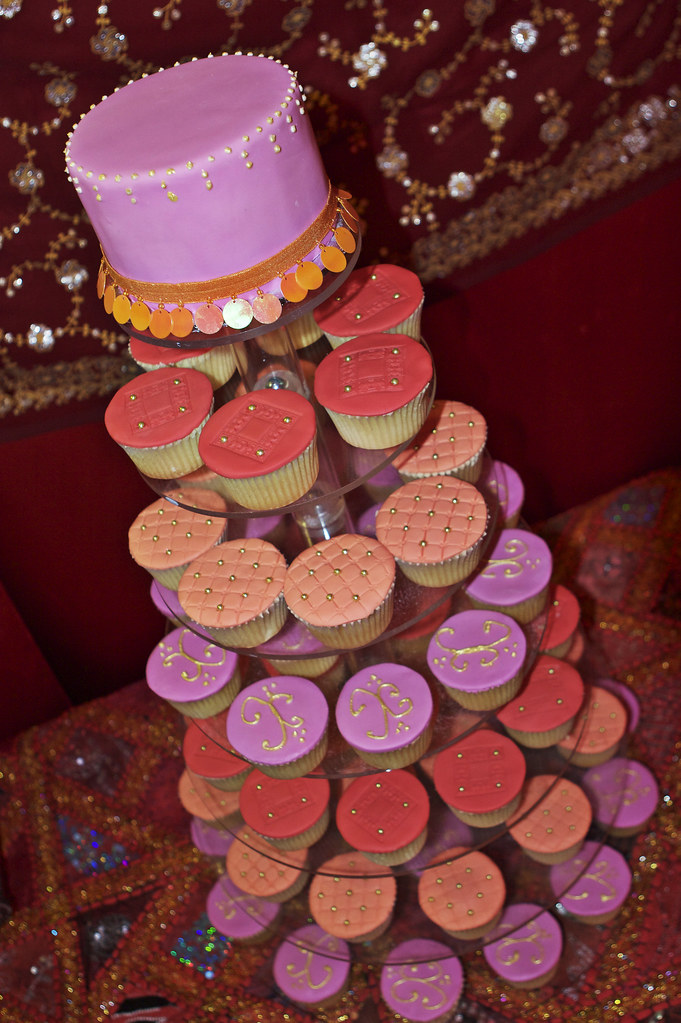 Arabian Moroccan Themed Wedding Cupcake Tower Moist