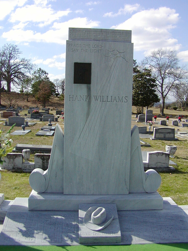 Hank Williams Sr Grave Taken A Few Years Ago In