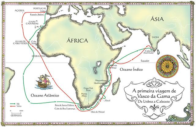 mapa vasco da gama Viagem de Vasco da Gama | Mapa para o livro Brasil: Terra à … | Flickr mapa vasco da gama