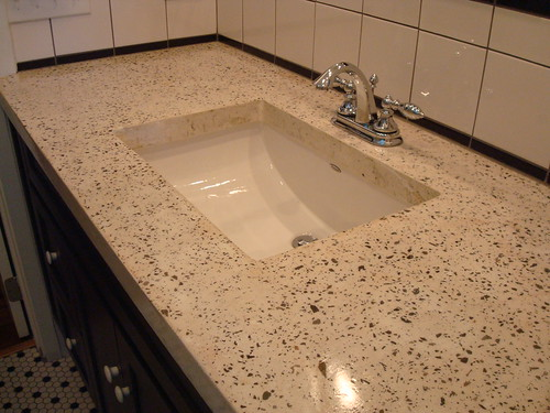 White Exposed Aggregate Concrete Countertop Flickr