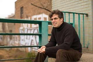 Jonathan Lethem on the banks of the Gowanus Canal in Brooklyn, NY | by mecredis