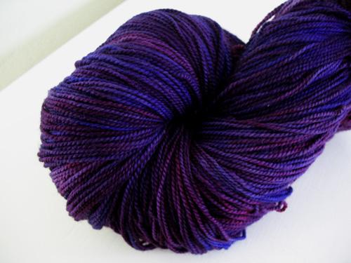 weetsie woolens sock tyrian purple my hand dyed sock