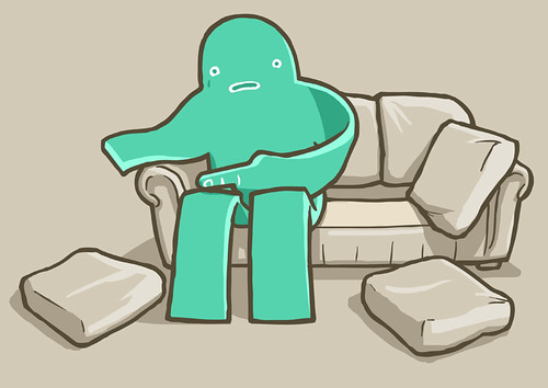 Foam Monster In Fruitless Back-of-Couch Search, Attempting To Locate Missing Limb. | by aledlewis