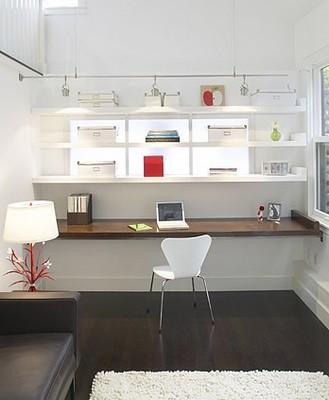 Interiors office built in desk built in desk for Office desk design inspiration