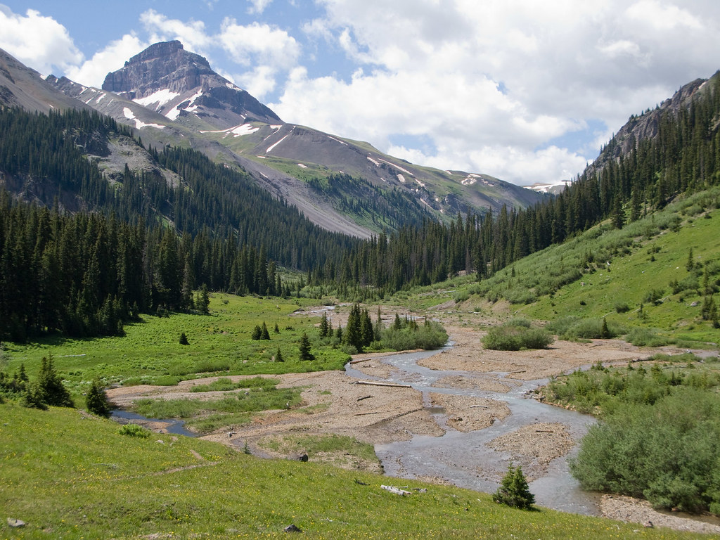 Uncompahgre Peak And The East Fork Cimarron River