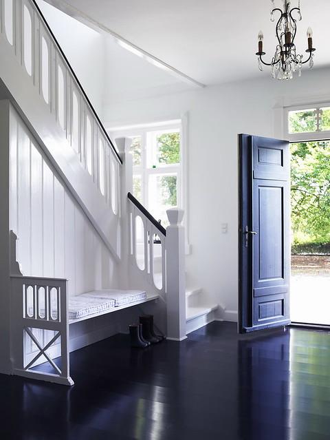White Walls Black Door Black Floor From Tine K Home