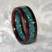 Cocobolo Rosewood and Corian Ring