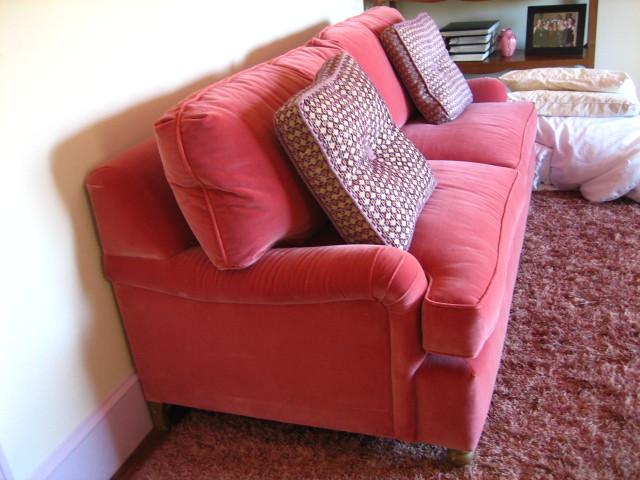 ... A.Rudin Pink Velvet Sofa | By Emnme