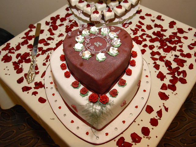 Valentines Day Wedding Cake 2 Tier Heart Shaped Fruit Cake Flickr