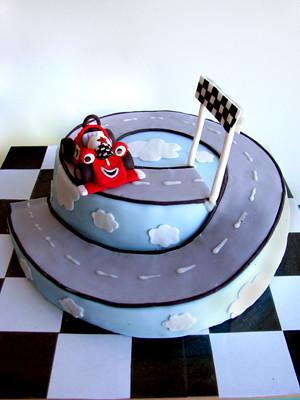 Roary The Racing Car Birthday Cake