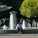 Fountain in front of Sproul Hall