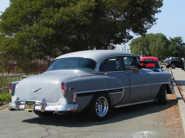 1954 chevrolet bel air 4 door sedan custom 39 dxx 374 39 2 for 1954 chevy 4 door