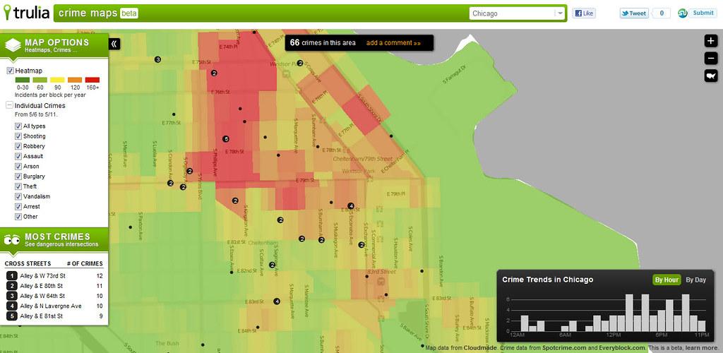 Crime Map Chicago Trulia Flickr
