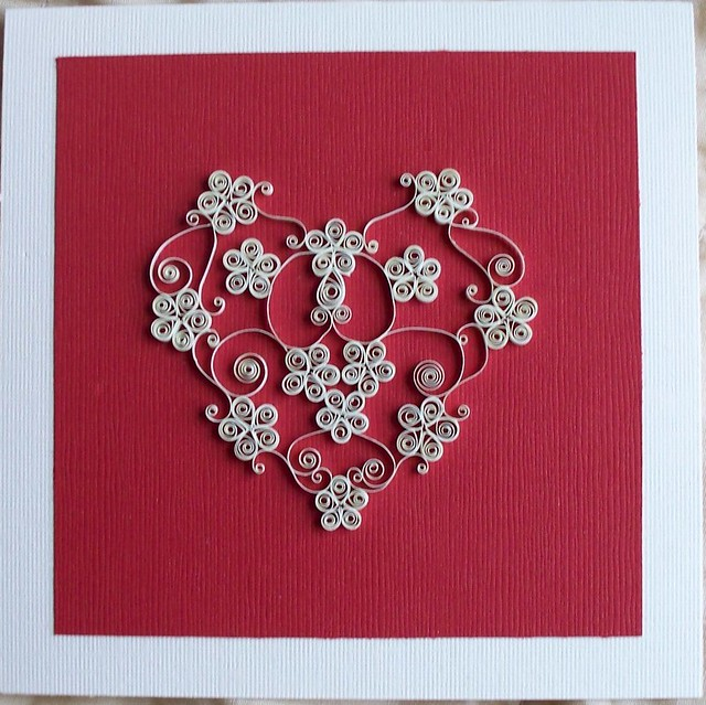 Ivory Floral Filigree Heart Valentine Card Www Iflookscoul Flickr