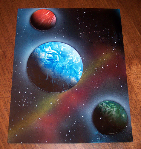 Spray Paint Art Space Spray Paint Art Completed With Si Flickr