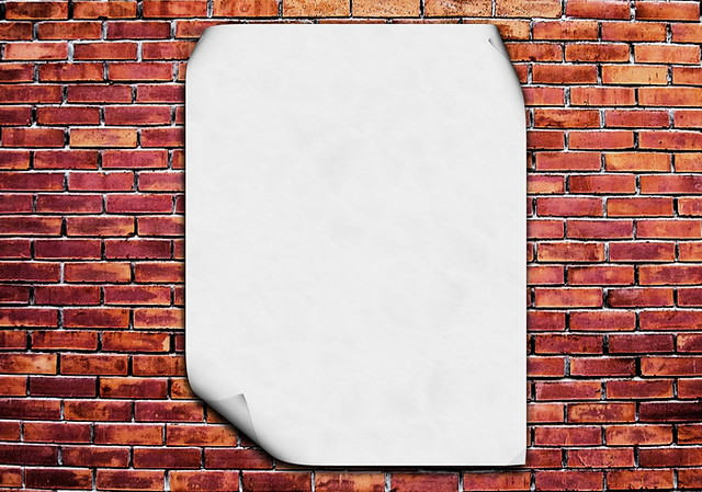 blank poster on brick wall blank white poster on red brick flickr