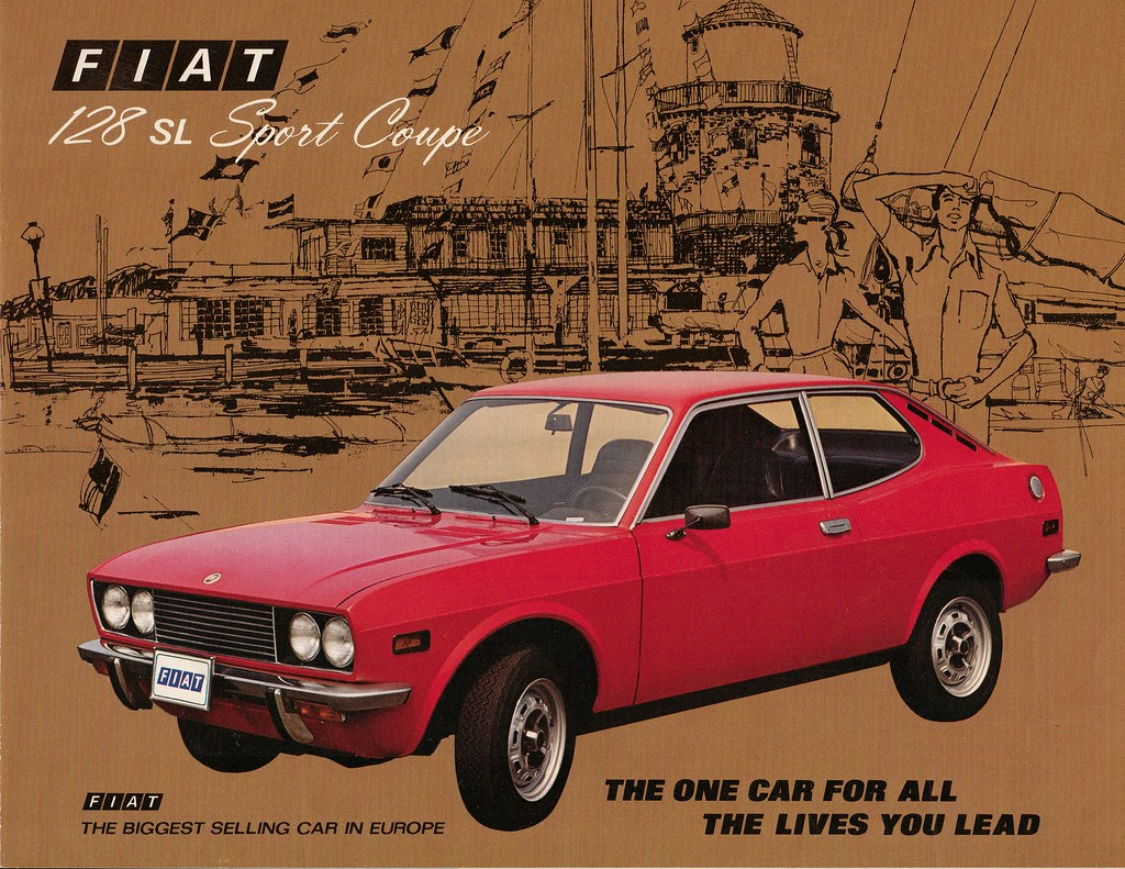 fiat 128 sl sport coupe usa imported by roosevelt motors flickr. Black Bedroom Furniture Sets. Home Design Ideas