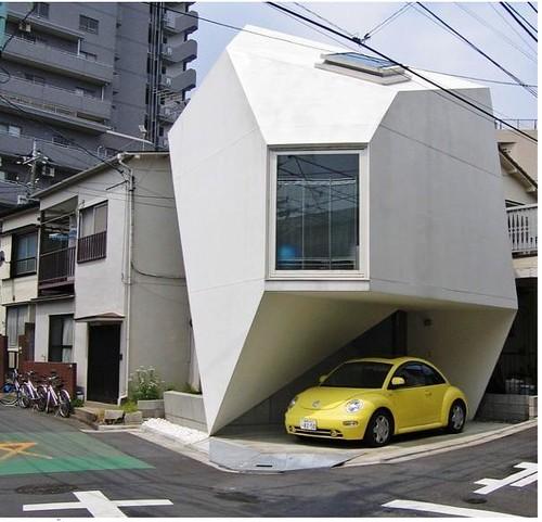 Casa origami esta es una casa peque a montada en el for Casa moderna japonesa