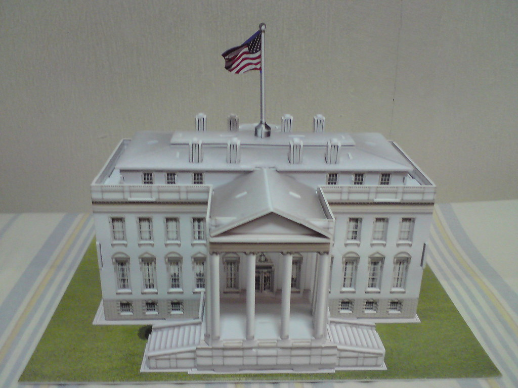 The White House Model The White House 3d Puzzle Made Up