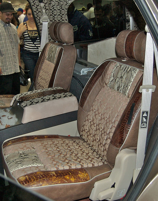 coach interior w snakeskin dub show 2009 in la check ou flickr. Black Bedroom Furniture Sets. Home Design Ideas