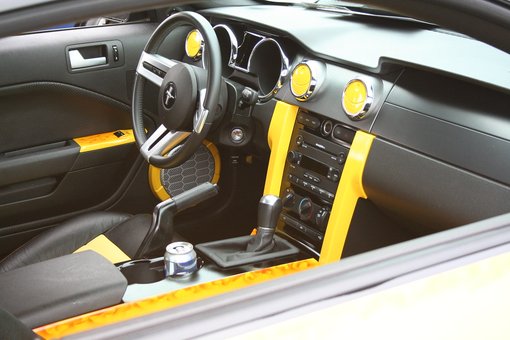 Ford Com Mustang >> Sweet yellow Mustang convertible - interior | Charlie J | Flickr