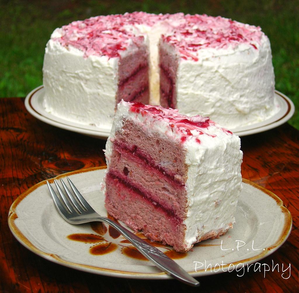 Raspberry Chiffon Cake Recipe