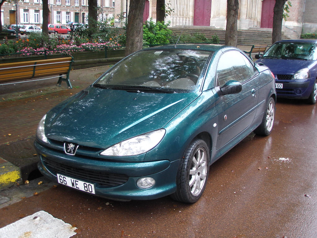 peugeot 206 cc bleu vert gueguette80 d finitivement non voyant flickr. Black Bedroom Furniture Sets. Home Design Ideas