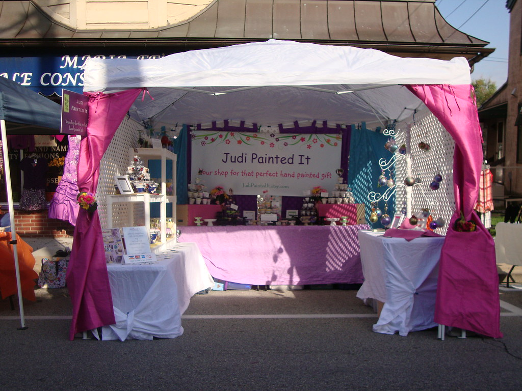 Judi painted it tent display this is an old set up from for Display tents for craft fairs