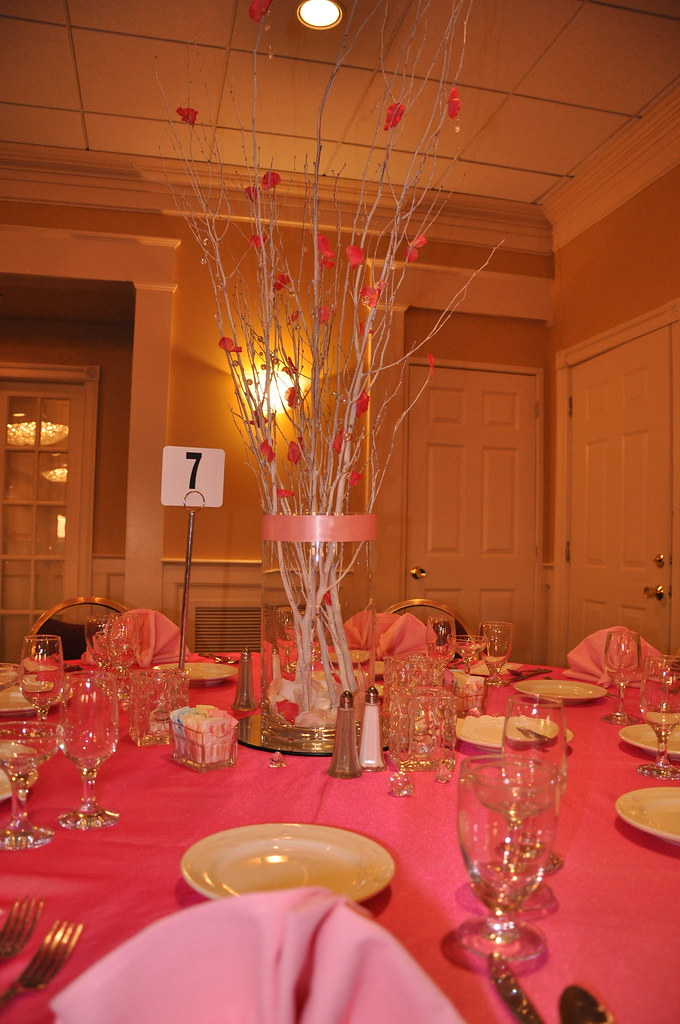 Quinceanera centerpieces hot pink is the theme winter