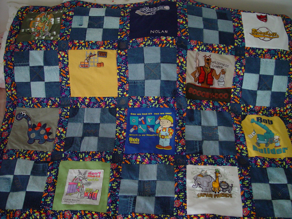 T Shirt Blue Jeans Quilt This Quilt Is For Nolan My