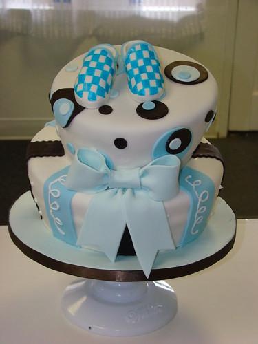 Topsy Turvy Baby Shower Cake Rebecca Flickr