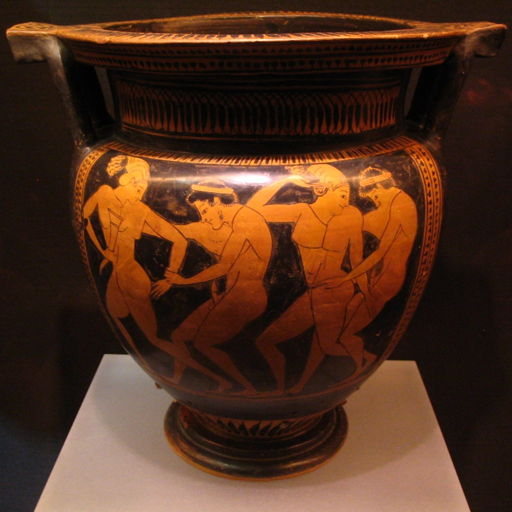 Erotic revelry | Athenian Red Figure column krater ...