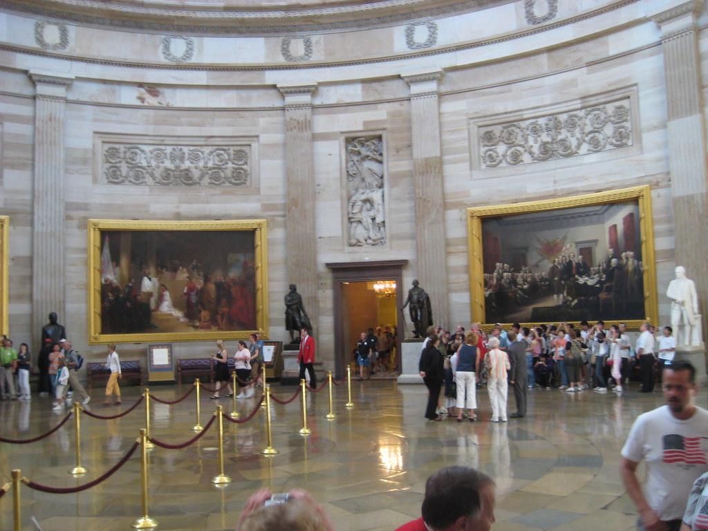 Capitol Building Rotunda Big Murals Big Statues And