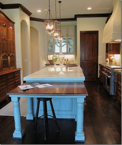 New China Kitchen 2: Tile House Via Cote De Texas Kitchen Island Table 2