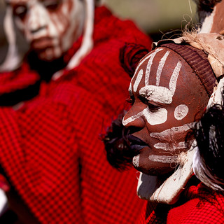 Kikuyu warriors with painted faces - Kenya | by Eric Lafforgue
